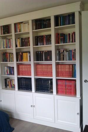 boekenkasten wand van MDF