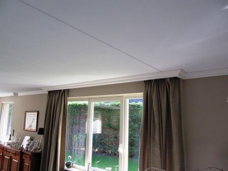 plafondlijsten met gordijn koof