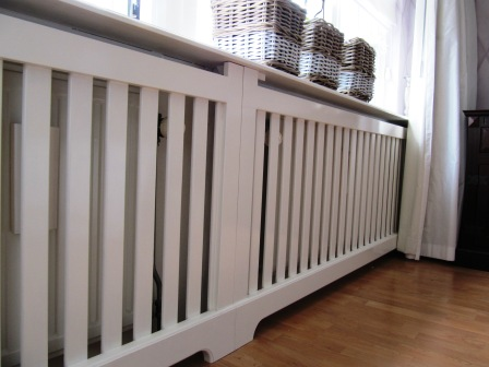 radiatorscherm met lattex
