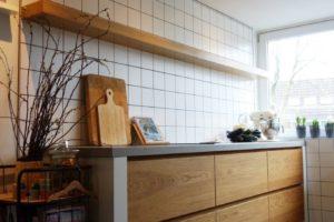 keuken met eiken deuren