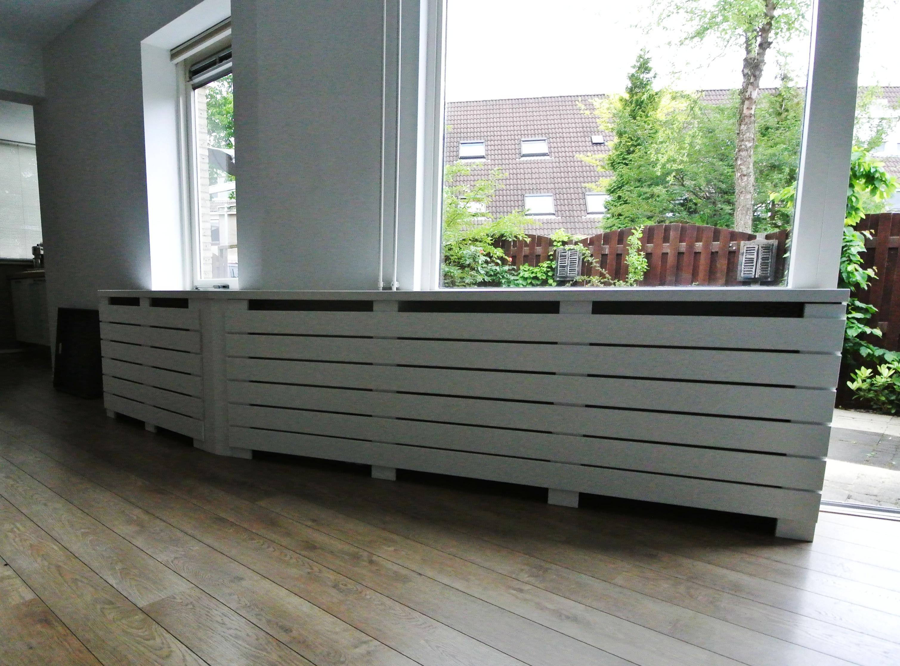 radiatorbekleding met lattex