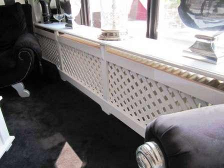 radiatorscherm met kruislattex