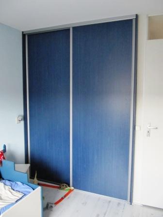 schuifwandkast blauw